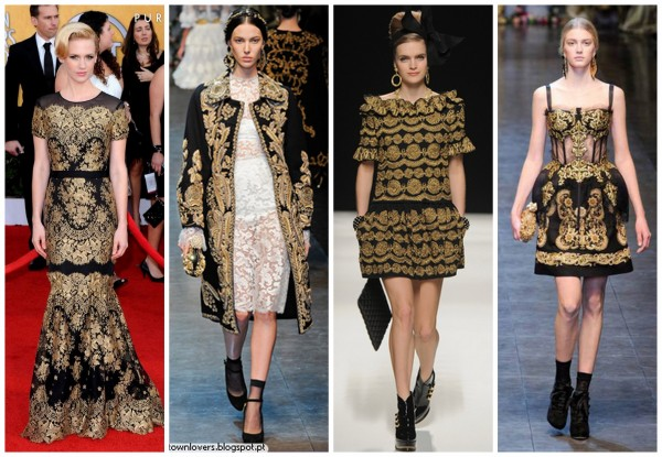 estilo-barroco-tendencia-2013-2014-desfile-red-carpet-como-usar-chic-elegante