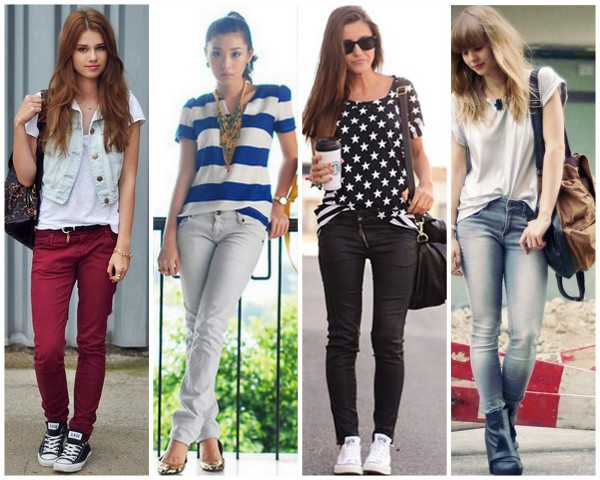 oque-usar-na-escola-faculdade-curso-simples-basica-dia-a-dia-calça-jeans-meninas-garotas