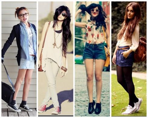 oque-usar-na-escola-faculdade-curso-simples-basica-dia-a-dia-calça-jeans-meninas-garotas-shorts-calor-regata-camisa