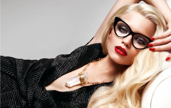oculos lente branca grau transparente mulher fashion gatinho sexy