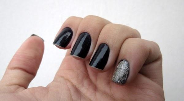 glitter prata 3d dimençao com preto rock colorama