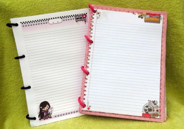resenha é bom dura resistente caderno ou fichario volta as aulas fashion girl