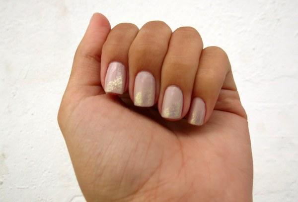 glitter dourado nas pontas francesinha beje nude disco impala ellen gold segredos