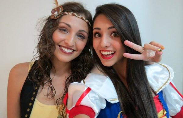 vlog get ready with us me girls brasil fantasy fantasia baile festa improvisada caseira costumizada branca de neve e hippie make maquiagem look roupa