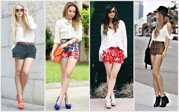 trend tendencia  como usar ficar shorts estampados coloridos floral geometrico desenhos fashion moda 2013 look looks