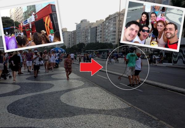 Rio de Janeiro Calçadão Copacabana Bloquinhos de rua zoeira carnaval