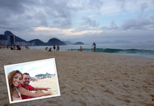 Rio de Janeiro Cartão postal casal fim de tarde