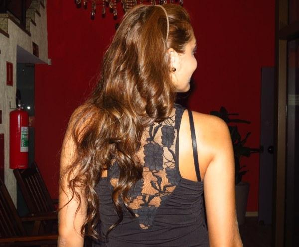 cabelo detalhe costas aniversário churrascaria